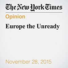 Europe the Unready (       UNABRIDGED) by Paul Krugman Narrated by Kristi Burns
