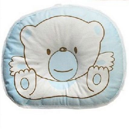 New Arrival Anti-Roll Pillow Flat Head Sleeping Positioner Bear For Boy Girl Newborn Baby Blue Color