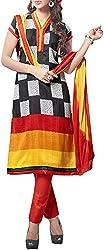 VIDA Women's Cotton Salwar Suit Material (Black)