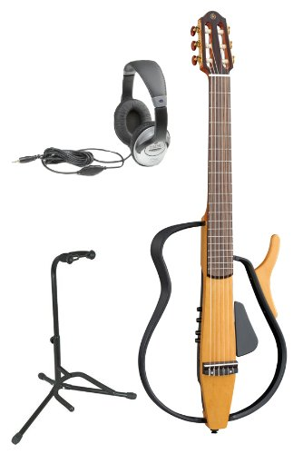 electric guitar reviews yamaha slg110n nylon string silent electric guitar bundle with gig bag. Black Bedroom Furniture Sets. Home Design Ideas