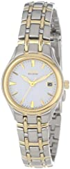 Citizen Womens EW1264-50A Eco-Drive Silhouette Two-Tone Watch