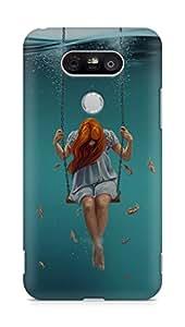 Amez designer printed 3d premium high quality back case cover for LG G5 (Swing Art Painting Girl Dark)