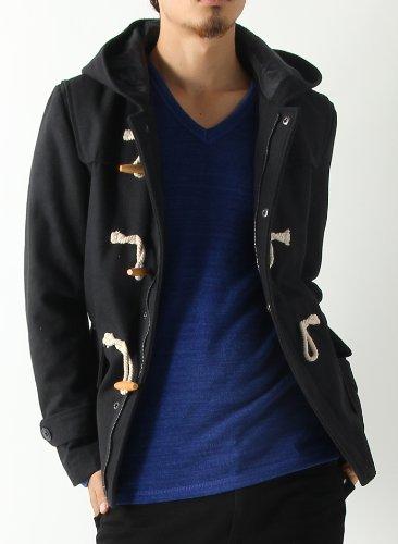 メルトンウールダッフルコート ダッフルコート ダッフル ジャケット コート メンズ Lサイズ ブラック