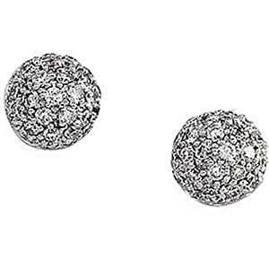 IceCarats Designer Jewelry 14K White Gold 14K White 1/2 Ctw Diamond Earrings. 1/2 Ct Tw Pair