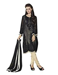 Texclusive Women's Georgette Straight Cut Pakistani Work Semi Stitched Dress Material - B016GM6FWW