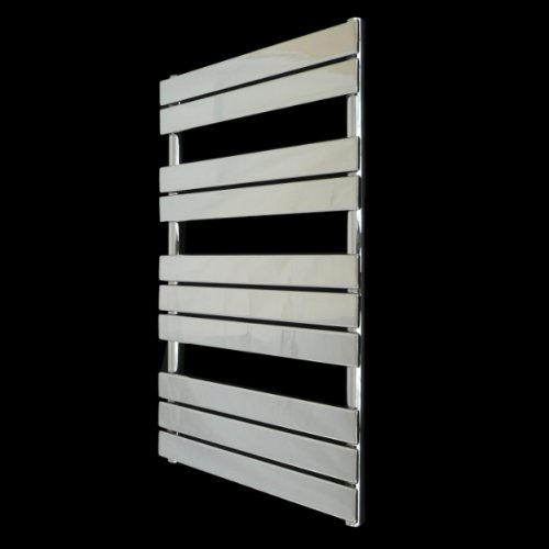 Vicenza Designer Flat Chrome Heated Bathroom Towel Rail Radiator 1000 x 600 mm