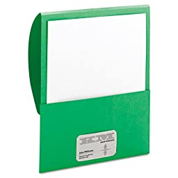 Smead - Textured Stackit Folders, Letter Size, Green, 10/Pack 87915 (DMi PK