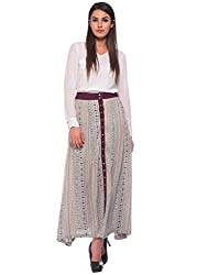 Printed Rayon Maxi Skirt