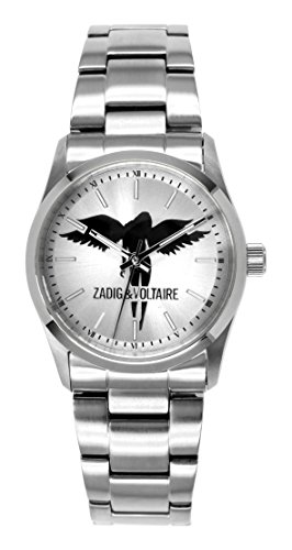 Zadig Voltaire ZV &004/FM-Rock Women's Watch Analogue Quartz Silver Dial Silver Steel Strap