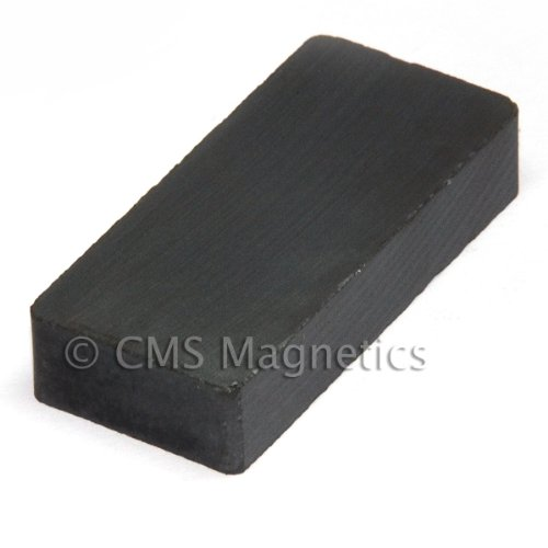 "Cms Magnetics® Ceramic Magnet 1 7/8"" X 7/8"" X 3/8"" Rectangle, Package Of 12 Ceramic 8 Hard Ferrite front-501927"