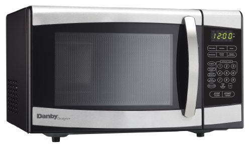 Danby Designer DMW077BLSDD Countertop Microwave, 0.7 cu.ft., Black and Stainless Steel (Microwave Oven Small Stainless compare prices)