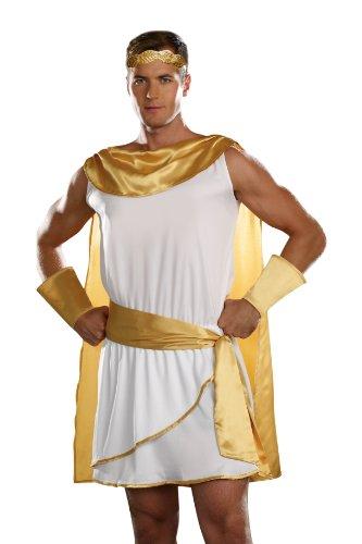 [Dreamgirl Men's He's A God Costume, White, Medium] (Roman God Costumes)