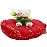 Tickles Red Couple Teddy Sitting On Beatiful Heart Valentine Stuffed Soft Plush Toy Love Girl 23 Cm