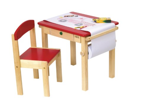 Guidecraft Art Table and Chair Set (Red)