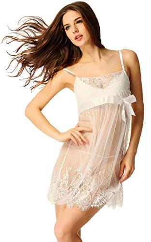 Avidlove Damen Nachtkleid Bodydoll Unterwäsche mit G Stringtanga Dessous Erotik Set