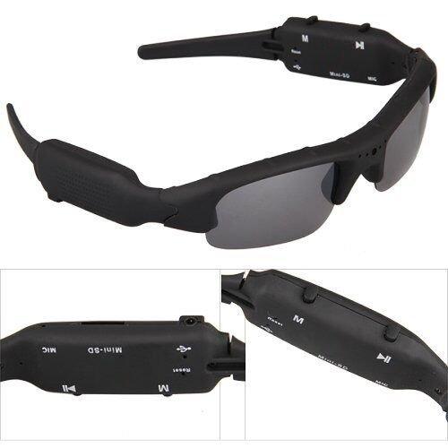 Stoga eleganti occhiali da sole Amazon Mini DV DVR Spy videocamera 720p occhiali da sole fotocamera registratore