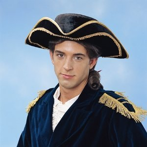 Tricorn Deluxe Hat Halloween Costume Accessory