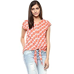 Raindrops Women's Top(1216C008A-Orange-S)