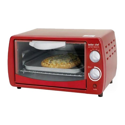 Better Chef IM-268R Classic Red 9-liter Toaster Oven by