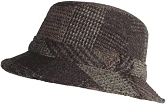 "Brims ""Yorkshire"" Authentic Harris Tweed 100% Wool Bucket (Brown, Medium)"