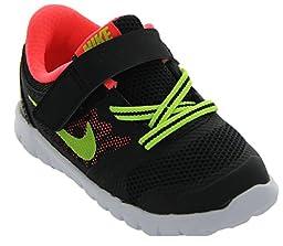 Nike Flex 2015 RN(TDV) #724991-003 (9 M US Toddler, BLACK/HOT LAVA/WHITE/VOLT)