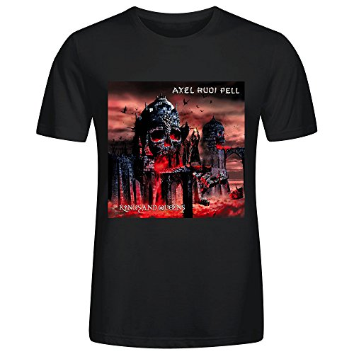 FORERIC Axel Rudi Pell Kings And Queens T Shirts For Men Black (Wet T Contest)