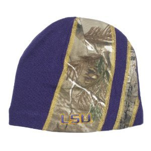 Ncaa Louisiana State University Lsu Tigers Purple Camo Camouflage Beanie Hat Cap Lid Toque