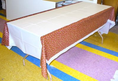 Blush Dots Table Cover