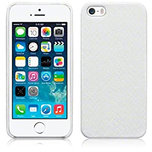 Terrapin PU Leather Back Case for iPhone 5S - White Snakeskin