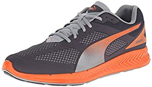 PUMA Men's Ignite Mesh Running Shoe, Periscope/Quarry/Vermillion Orange, 7 M US