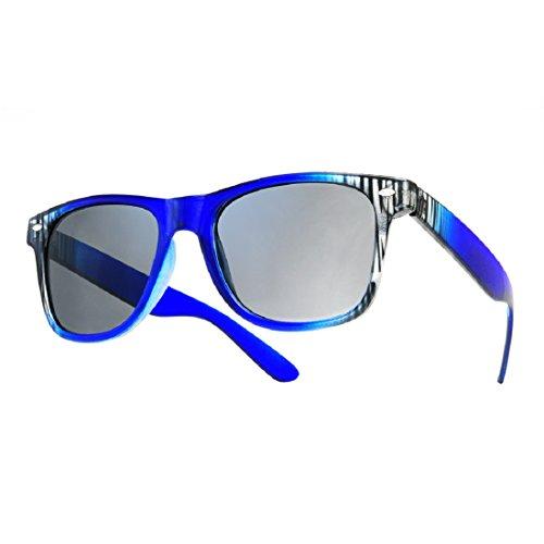 Sonnenbrille Nerdbrille retro Wayfarer Unisex Herren/Damen Sonnenbrille, UV-Schutz 400, Schildpatt Herren Sonnenbrille Spicoli 4 Shades, Tortoise Aussen, One size (15)