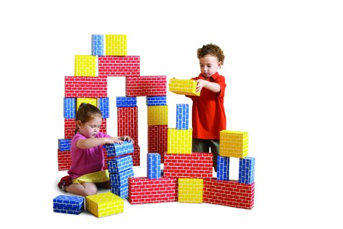 Edushape Corrugated Blocks, Set of 52 toys