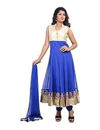 Sareeshut Women's Net Regular Fit Anarkali Suits - B00WQYXW08