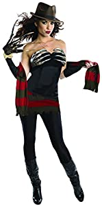 Secret Wishes Women's Nightmare On Elm Street Freddy Corset Style Costume, Multi, Small