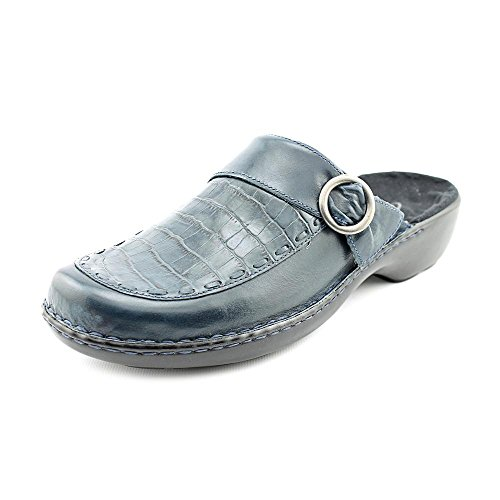 Clarks Cicely Womens Size 8 Blue Wide Leather Mules Shoes