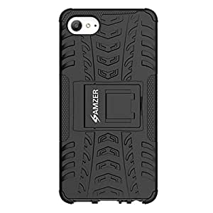 AMZER Hybrid Warrior Impact Resistant Case Back Cover For Lenovo Z2 Plus / Lenovo ZUK Z2 - Black/ Black