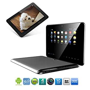 Freelander PD90 Tablette PC Tactile 10,1 pouces Android 4.0 Samsung Exynos 4412 Quad Core RAM 2GB ROM 16GB Bluetooth WIFI HDMI Vidéo Caméra MID HD + Excelvan 4G TF carte - Argent