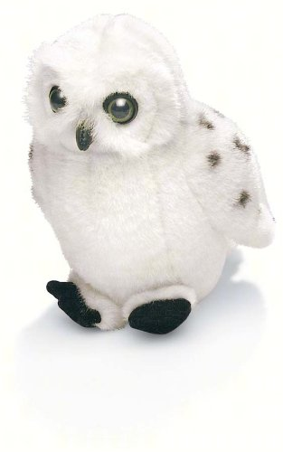 "5"" Snowy Owl Stuffed Animal with Bird Call Sound"