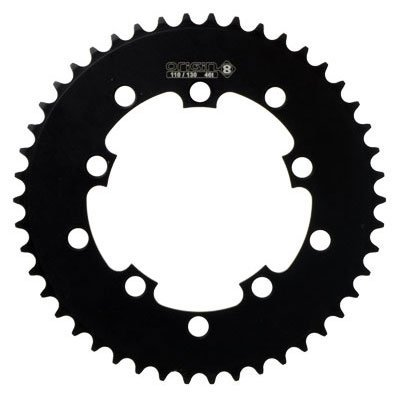 Rocket 10H BMX Chainring Black 46T 1/2 x 1/8