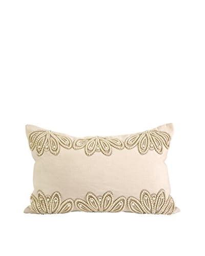 IK Ikhan Lenkha Beaded Lumbar Pillow, Pearl