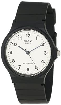 Casio Unisex MQ24-7B Analog Black Resin Strap Casual Watch