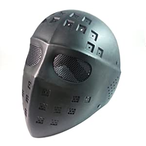 Buy Airsoft Paintball Hockey Type Full Face Mesh Protection Mask Jason Hockey Mask Black by AirSoft