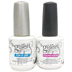 Gelish .5 Base & Top Coat Gel Set Harmony Nail Salon Uv Manicure Polish Soak Off