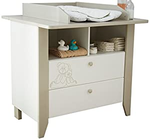 Demeyere 301470 ourson commode table langer avec 2 for Commande table a langer
