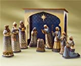 Jim Shore Heartwood Creek Set of 10 Mini Nativity Figurines