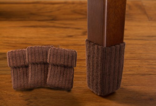 Small chocolate brown with rubberized grips chair leg Furniture wood floor protectors