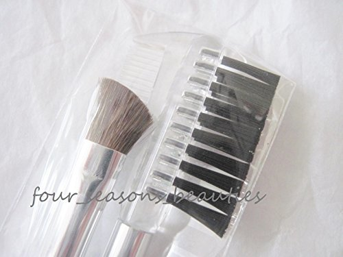 """NEW 2-piece Clinique Eye Shadow & Brow Clear Brush Set 6"""" Long"""