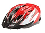 V-Share Cycling MTB Road Bicycle Helmet 18 Holes Riding Equipment Male And Female Models,Suitable for people with head circumference 56-62cm and the head-width below 17.5cm - Red