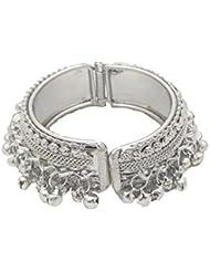 Silver Plated Ghunghru Party Wear Kada Bangle By My Design