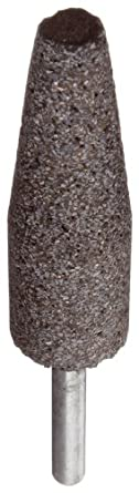 """Norton NorZon Resin Bond Abrasive Mounted Point, Zirconia Alumina, A1 Shape, 1/4"""" Spindle Diameter, 3/4"""" Diameter x 2-1/2"""" Thickness, Grit 24 (Pack of 5)"""